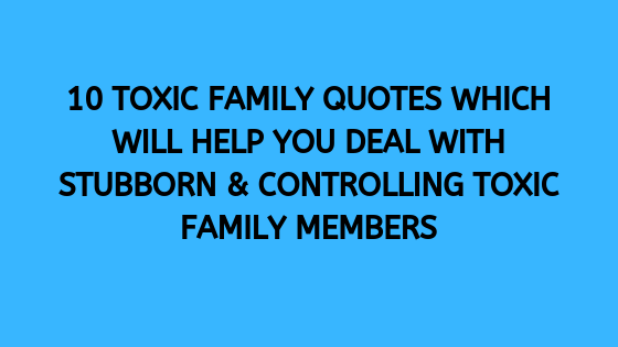 toxic family quotes