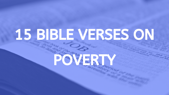 bible verses about poverty