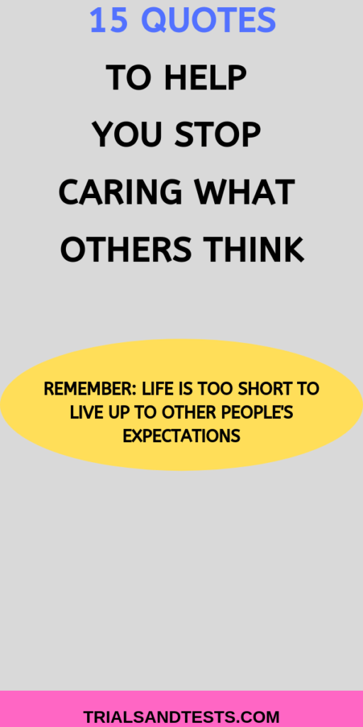 what other people think quotes