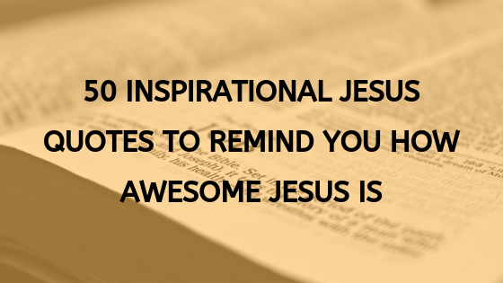 inspirational quotes from Jesus