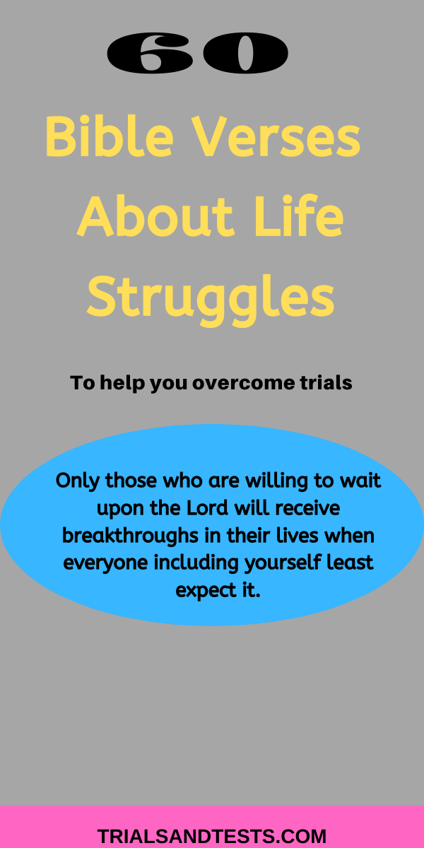 bible verses on life struggles