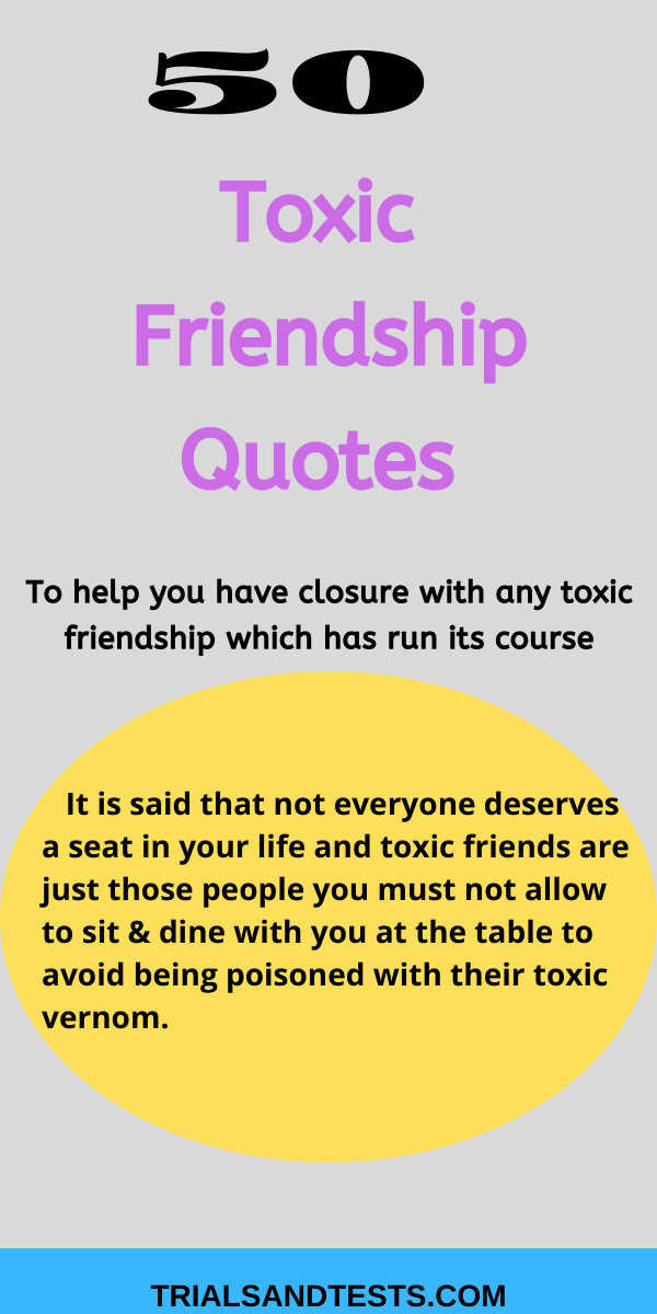 toxic friendship quotes