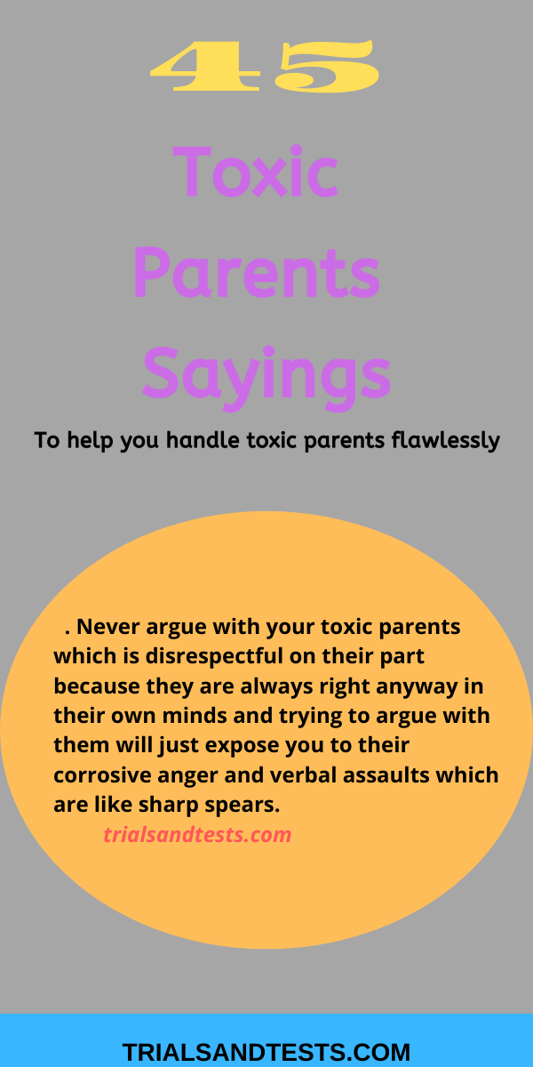 toxic parents sayings