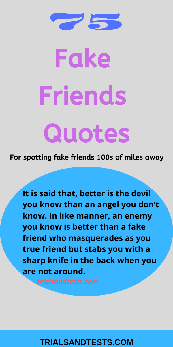 75 Fake friends quotes