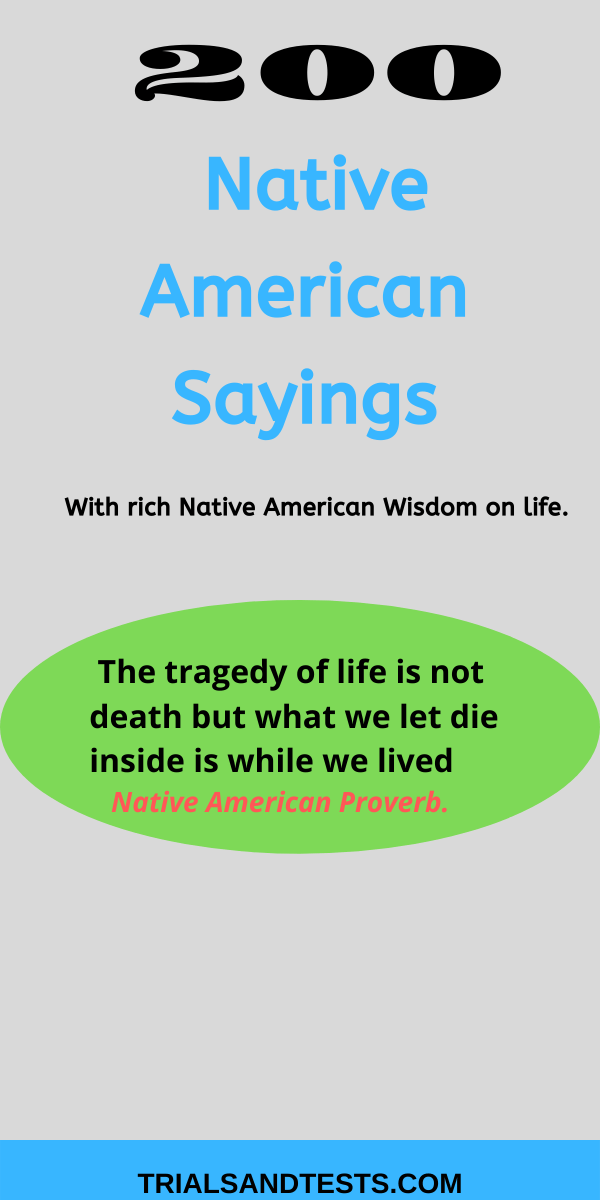 native american sayings