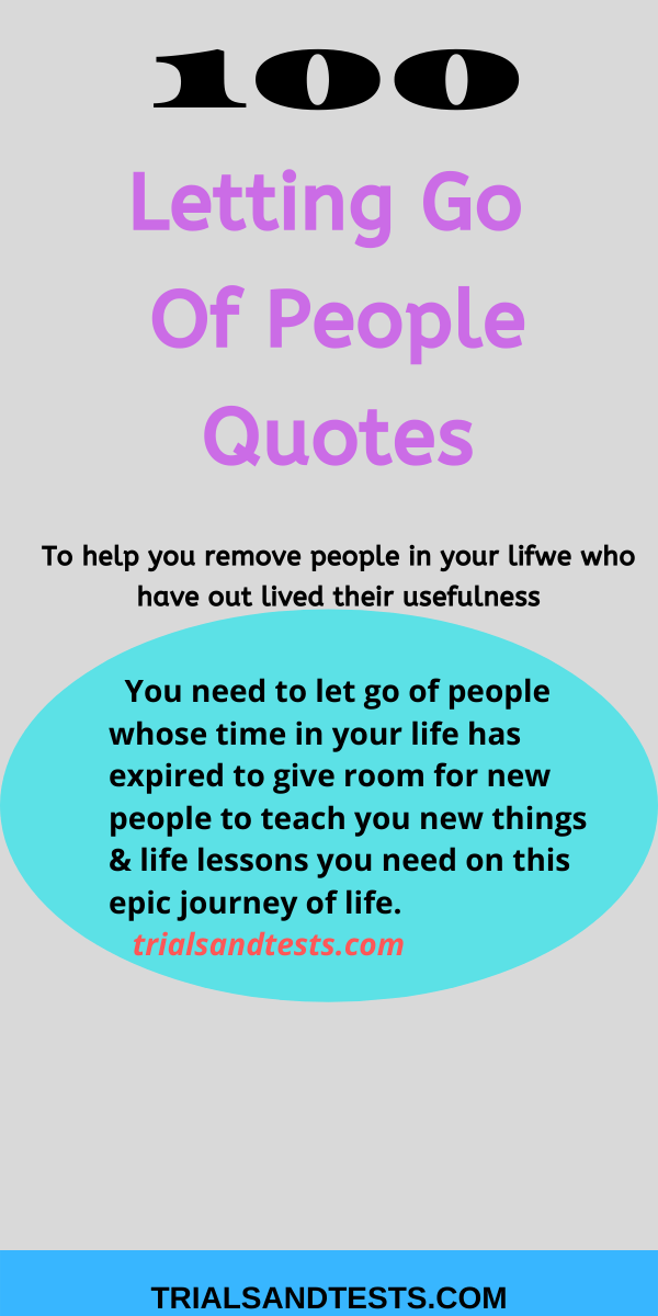 Quotes about letting people go